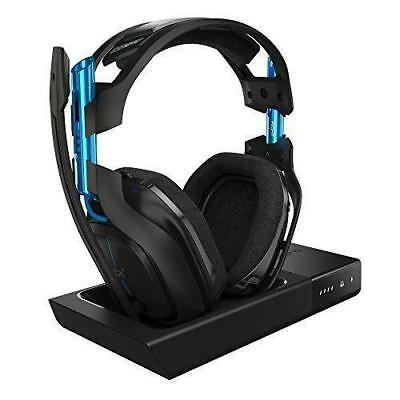 ASTRO A50 Wireless Headset and Base Station for PS4 - Black/Blue barely used