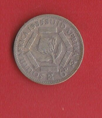 South Africa 6 Pence 1935 Silver