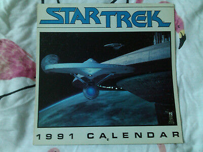 Star Trek The MOVIES 1991 Calendar Excellent Condition For Year