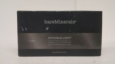 BareMinerals Translucent Powder Duo Invisible Light MATTE-GLOW 0.31oz/9g *NEW*