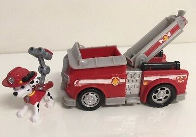 paw patrol marshall fire truck rescue action figure and vehicle kids