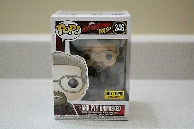 Funko Pop Marvel Ant-Man & Wasp #346 Hank Pym Unmasked Hot Topic Ex NEW UNOPENED