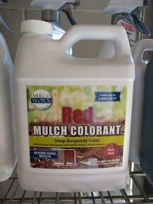 MulchWorx Red Mulch Color Concentrate - 2,800 Sq. Ft. - Deep Burgundy Red Mulch