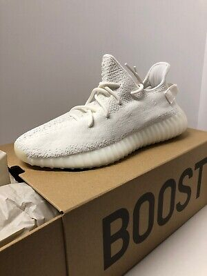 on sale 8b806 7600b ADIDAS YEEZY ULTRABOOST 350 V2 Cream Triple White Size 10.5 Men's CP9366  Kanye