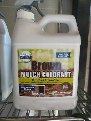 MulchWorx Brown Mulch Color Concentrate - 2,800 Sq. Ft. - Rich Dark Brown Mulch