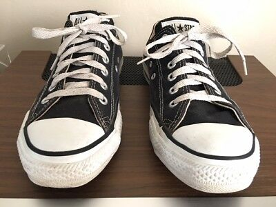 Vintage Converse All Star Low Top made in USA, size 6 BLACK