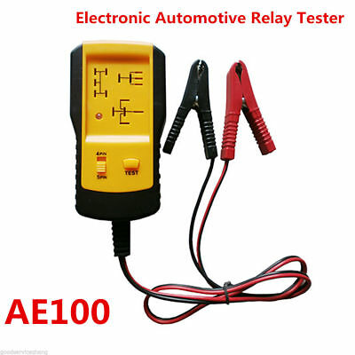 12V Electronic Automotive Relay Tester Car Vehicle Auto Battery Checker  AE100