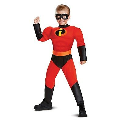 Boys The Incredibles Dash Classic Muscle Halloween Costume w Sound Small (4-6)