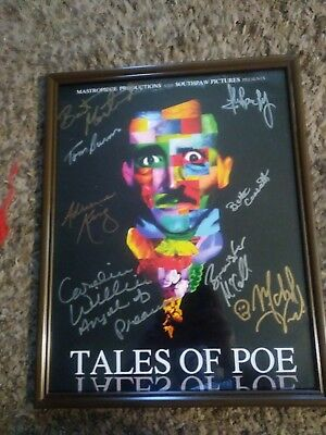 Tales From Poe Autograph Poster Adrianne king.caroline williams plus 8 signature