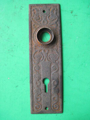 Vintage Antique Door Hardware Cast Iron Door Face Plate Architectural Salvage