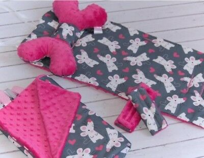 Pram stroller liner  with blanket, pillow and strap protectors