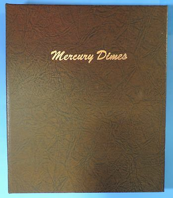 1916 - 1945 Almost Complete Set of Mercury Dimes in Dansco Album 7123 76 Coins