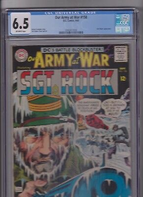 Our Army at War  #158 CGC 6.5 First Appearance of the Iron Major OW pages