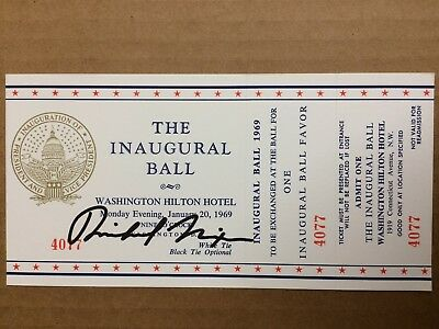 Richard Nixon AUTHENTIC HAND signed Inaugural Ticket President