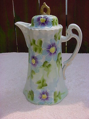 Vintage Japanese Hand Painted Chocolate Pot