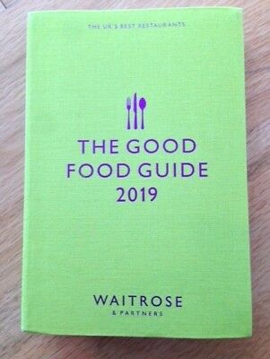 The Good Food Guide 2019 Waitrose & Partners (Paperback, 585 pages) NEW