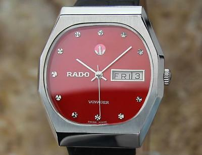 Rado Vintage Stainless Voyager 1970s Automatic 34.5mm Swiss Watch For Men EX3