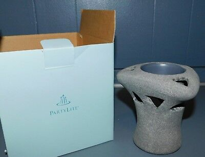 PartyLite Living Stones Aroma Melts Candle Warmer Ceramic Gray