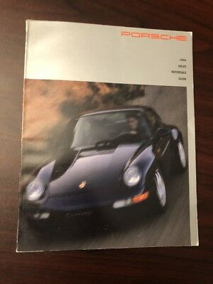Porsche 1994 sales reference marketing guide - 108 pages - 993 911 968 928 GTS