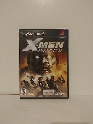 X-Men Legends II: Rise of Apocalypse (Sony PlayStation 2, 2005) Complete