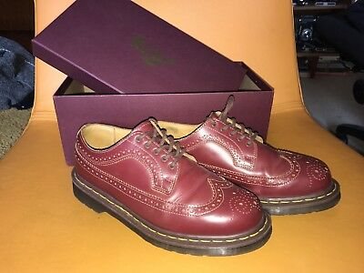 Dr Martens Oxblood Brogue Made In England Size UK 7