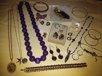 Estate Jewelry Lot! Sterling Silver~Necklaces~Bracelets~Earrings~Rings~Brooches+