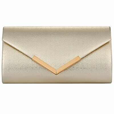 Womens Evening Clutch Bag Wedding Purse Bridal Prom Party Bag Hard Case Handbag