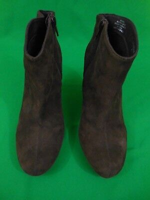 STEVE MADDEN WOMEN'S BROWN LEATHER MID-CALF STILETTO BOOTS Size 9