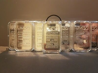 10 x  1oz  Johnson Matthey .999 Fine Silver Bar Consecutive Serial Numbers