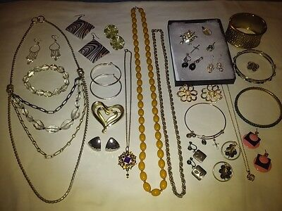 Lovely Jewelry Lot! Sterling Silver~Necklaces~Bracelets~Earrings~Rings~Brooches+