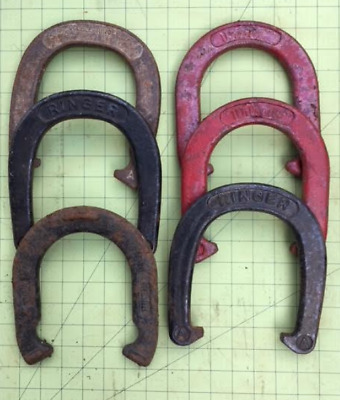 Lot Antique/Vintage Ringer Horseshoes Folk,Country Craft Shabby Chic altered art