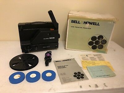 Bell & Howell 10 Ms Dual Eight Variable Speed Control Projector Super/ Reg 8 MM