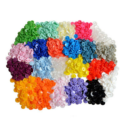 330x 21 Colors T5 KAM Plastic Snaps Fastener Press Stud Cloth Diapers Buttons