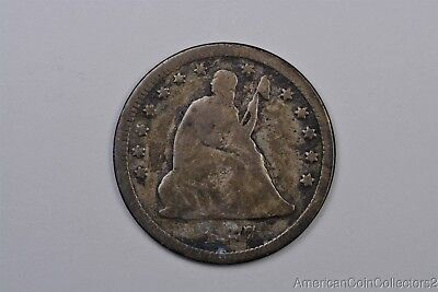 1877-CC Carson City Seated Liberty Silver Quarter .25c Look No Reserve KEY|11676