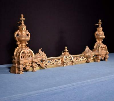 *Antique French Bronze Chenet/Andirons/Fireplace Set Fireplace Decoration