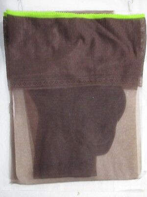 1Pr Vintage Hanes 415 Reinforced Sheer Rht Nylon Stockings Size 11 Long Defects