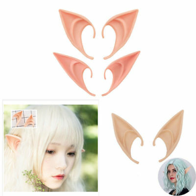 1 Pair Angel Elf Ear Halloween Costume Props Cosplay Accessories Latex False Ear