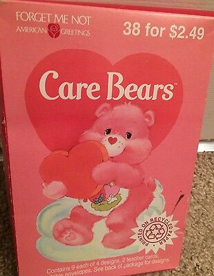 Vintage Care Bears Valentines Happy Valentine's Day NEW