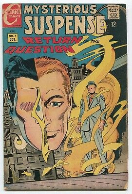 MYSTERIOUS SUSPENSE #1 Steve Ditko RETURN OF THE QUESTION - GREAT AUCTION ON