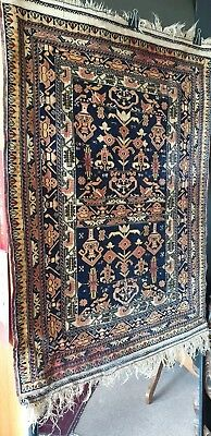 Old Turkish Silk & Linen / Cotton Finely Woven Tribal Rug …beautiful collection.