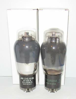 *Matched Pair* Sylvania 6L6G smoked glass amplifier tubes.TV-7 test @ NOS specs.