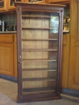 Antique Tall Hand Crafted Wall Medicine Bathroom Kitchen Spice Cabinet 47.25""