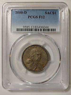 2000 D Sacajawea Dollar PCGS F 12 - Pop 1 - 3rd Lowest Graded by PCGS! - Lowball