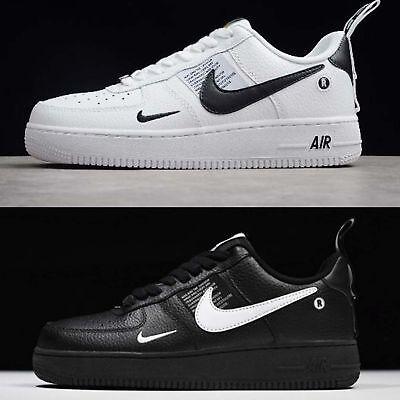 best service 0d3de e1db9 Nike Air Force 1 07 LV8 Utility Black   White Mens Shoes AF1 Sneakers Pick 1