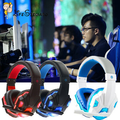 Gaming Headset Stereo Surround Headphone 3.5mm Wired+Mic For PS4/PS3/PC/XBOX