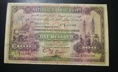 EGYPT 100 POUNDS 1943  P17d sign nixon