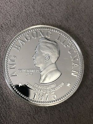 PHILIPPINES 1975-FM SILVER 50 PISO PROOF Coin Sterling Peso