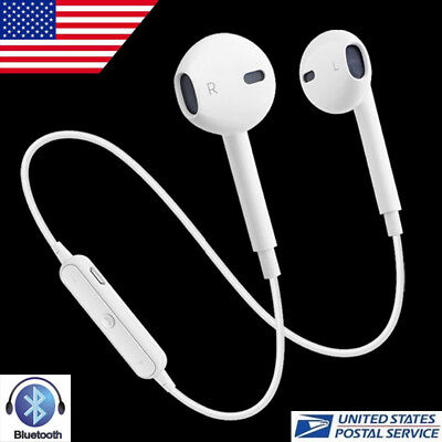 Bluetooth Headset Wireless Sport Stereo Headphones Earphone Earbuds /w Mic USA