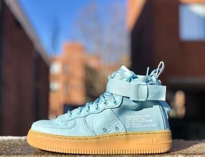 Nike Sf Special Forces Air Force 1 Mid Gs Ocean Bliss Us Size 7 (Aj0424-401)
