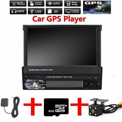 7 1din autoradio mit gps navigation bluetooth touchscreen. Black Bedroom Furniture Sets. Home Design Ideas